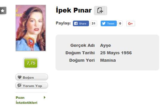 İpek Pınar harddisk dolumu, İpek Pınar yeşilçam, İpek Pınar filmleri, İpek Pınar hayatı, İpek Pınar filmleri indir, İpek Pınar filmleri izle, Hdd dolumu