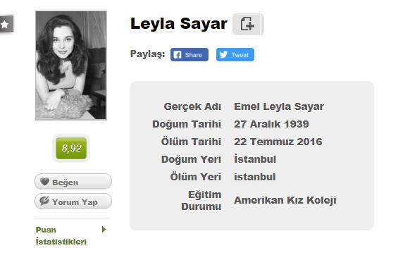 Leyla Sayar harddisk dolumu, Leyla Sayar yeşilçam, Leyla Sayar filmleri, Leyla Sayar hayatı, Leyla Sayar filmleri indir, Leyla Sayar filmleri izle, Hdd dolumu